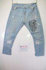 Levi's 501 Remake Customized Slim Fit (Cod. M1474) tg50 W36 jeans usato vintage