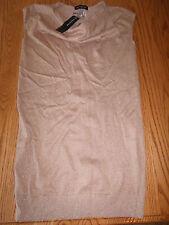 NWT WOMENS JONES NEW YORK GOLD TAN BROWN GLITTER SPARKLE CAP SLEEVE SMALL S $99