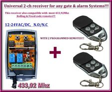 Universale 2-canale rolling code 433,92 MHz ricevitore 12-24V + 2 Telecomando