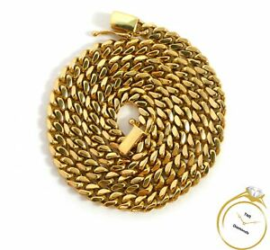 """Cuban Link 18k Yellow Gold Chain Necklace 20"""" 58 grams"""