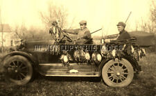 ANTIQUE REPRO DUCK HUNTING PHOTOGRAPH COOL OLD CARS AND SHOTGUNS