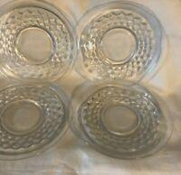 "Vintage Fostoria American Crystal Clear Saucers Set of 5 5 3/4 """