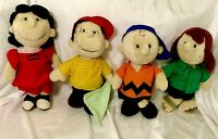 VTG '82 LOT Peanuts Gang United Feature Syndicate PLUSH Charlie B Linus Lucy Pep
