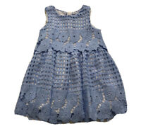 Mayoral Baby Girls Blue Floral Lace Dress Size 2 2T Orig.$89
