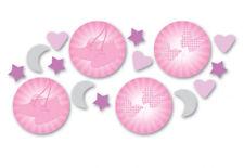 Rosa Bautizo Confetti Mesa de Niña Bautizo Decoración Fiesta