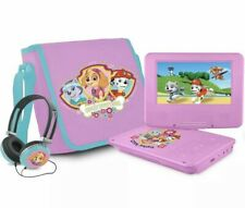 """PAW Patrol 7"""" Portable DVD Player with Carrying Bag & Headphones - Pink - [LN]™"""