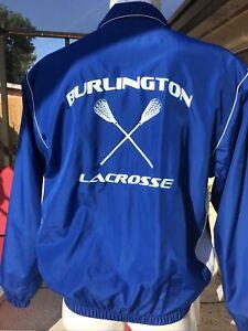 Coaches Burlington Lacrosse AUGUSTA Sportswear FULL ZIP WINDBREAKER JACKET M