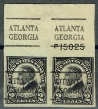1923 2c Harding (611-L-4E) Imperf pr with precancel from Atlanta Ga ! Top Margin