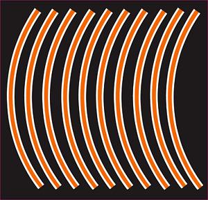 "Creamcycle orange and white Bike Wheel Tape for 20"" x 4"" wheels fat tire e bikes"