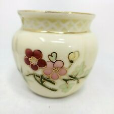 Vintage ZSOLNAY HUNGARY Porcelain Hand Painted Cache Cachepot Mint