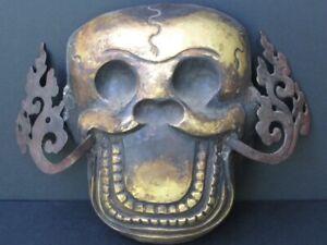 Maske Citipati aus Kupfer Ziseliert,Tibet