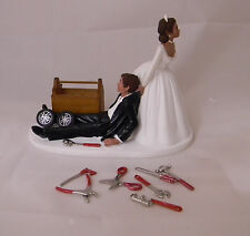 Wedding Reception ETHNIC Car Truck Mechanic Tools Grease Cake Topper Garage