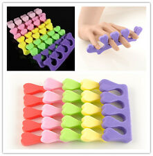 10x Soft Sponge Foam Finger Toe Separator Nail Art Salon Pedicure Manicure Tool