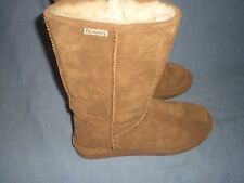 "Bearpaw EMMA TALL Boots 610W HICKORY Soft Suede 12"" AUTHENTIC size 9"