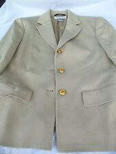Women's Beige Tan Brooks Brothers Corduroy Blazer Jacket!  SIZE 4!  ITALY!