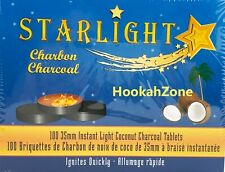 NEW 35 MM STARLIGHT COCONUT Shell Premium Quality Quick Light Charcoal Coals