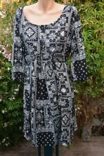 Styish Maternity Dress Crossroads Size 14 . Black/white Button FRT