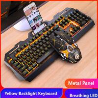 Gaming Keyboards Gaming Mouse Mechanical Feeling RGB LED Backlight USB PC Laptop
