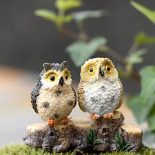 New listing Chic Garden Owl Moss Terrarium Desktop Decor Crafts Bonsai Animals Miniature Kw
