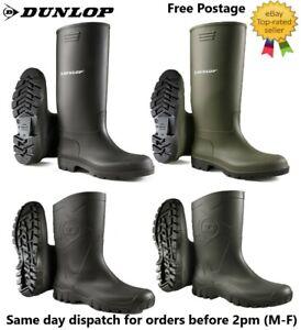 Ladies Mens Original Dunlop Rubber Wellies Waterproof Festival Wellington Boots