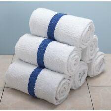 12 BLUE STRIPE POOL TOWELS 6# PER DOZEN BATH 22x44 TOWELS