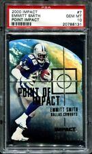 Emmitt Smith 2000 Fleer Impact #7 Point Impact PSA 10