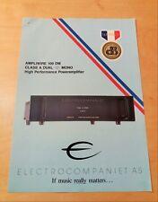 ELECTROCOMPANIET Ampliwire 100 DM - Brochure