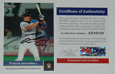 TAKUYA NAKASHIMA SIGNED AUTO'D 2014 BBM CARD PSA/DNA COA NIPPON HAM FIGHTERS