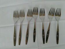 SSS Oneida Our Rose Stainless 7 14 inch Set of 8 Dinner Forks