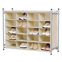 5-Tier 20-Pair Stackable Shoe Rack Nonwovens Cube Shoe Organizer