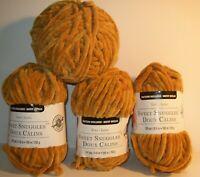 4 Skeins Loops & Threads Yarn Sweet Snuggles 35.2 Oz Gold Same Dye Lot 84847