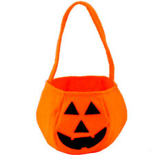 Halloween Holiday Smile Pumpkin Bag Kids Candy Bag Handbag Party Decor Supplies