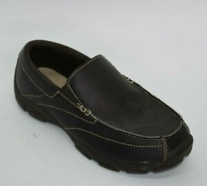 * Perry Ellis America * Brown Stretch Loafers Boys Shoes 2 US | 1.5 UK | 33.5 EU