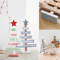Home Decor Mini Desktop Christmas Decoration Xmas Tree Wooden Ornaments