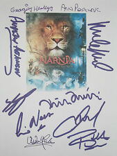 Chronicles of Narnia Keynes Signed Movie Script X10 Madsen Neeson McAvoy reprint