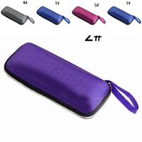 Portable Small Rectangle Grid Zipper Glasses Case Hard Eyewear Sunglasses Boxes