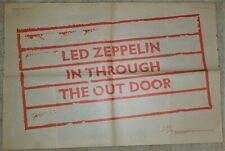 Led Zeppelin 1979 2-page spread Melody Maker advert for In Through The Out Door