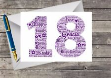 Personalised 18th Birthday Card, For her, Friend, Sister, Daughter, Niece