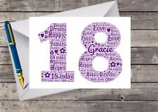 Personalised 18th Birthday Card for Her Friend Sister Daughter Niece