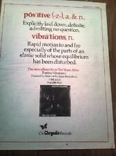 TEN YEARS AFTER Positive Vibrations (red) 1974  Poster size Press ADVERT 16x12""