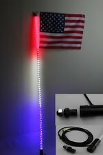 5 feet Led light bulb whip with American flag Quick Release- B/R/W color