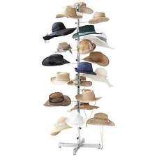 "New - Casual Outfitters Retail Floor Display Hat Rack 72"" Tall Holds 20 Hats"