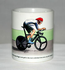 Cycling Mug. Bradley Wiggins, Individual Time Trial, 2012 Olympics, with title