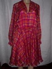 1960s dress by Rimini Multicolor Pink Plaid Size 6  Great Condition Vintage