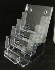 "Lot of 2 Deflecto 4 tier Bi fold & Business Card Holder 6""w  Avon Catalog"