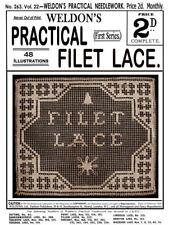 Weldon's 2D #263 c.1906 Practical Filet Lace & Netting Vintage Instructions