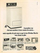 PUBLICITE  1971   ARTHUR MARTIN  lave linge machine à laver 620