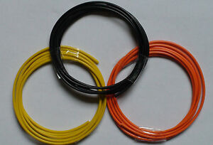 3 x 1 mtr Guitar Pickup Wiring (HOOKUP WIRE) 22AWG   (Best Stranded Core)