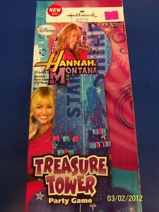 RARE Hannah Montana Rock the Stage Pop Star Birthday Party Game Treasure Tower