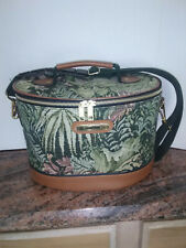 Vintage American Tourister Luggage Floral Tapestry Makeup Train Case Carry Bag